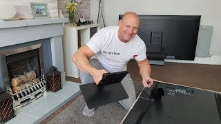 03. Samsung Q80T table top stand assembly,fitting & measurements