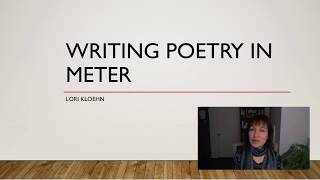 Writing Poetry in Meter