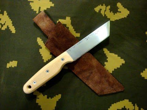 Самодел�н�й нож �ан�о. Фо�о - 13:33 �а�-л�: ��ал� HSS, бе��за �лина клинка: 107мм �лина ��ко��ки: 113мм Ши�ина клинка:...