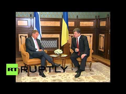 Ukraine: Poroshenko meets Finnish president for crisis talks