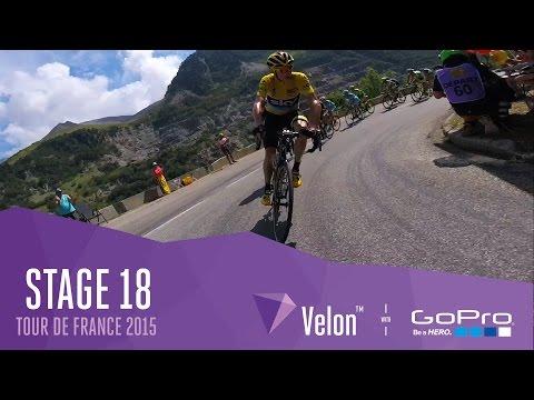 Tour de France Stage 18 - On Bike Highlights