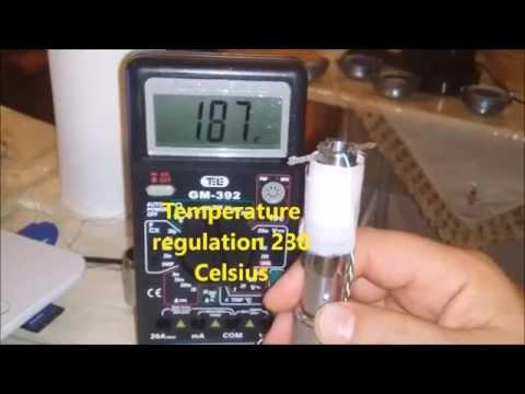 Temperature regulation in e-cigarettes: first measurements presented