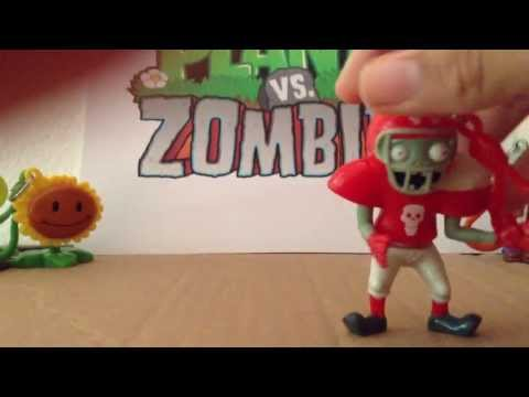 Llaveros de Plants vs Zombies Gamesa  (Zombistein y Deportista) Part 1/4