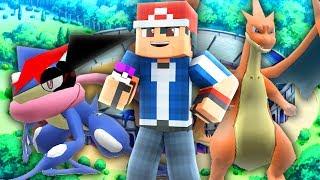 Minecraft Pokemon - BATTLING ASH + ASH GRENINJA! (Minecraft Pixelmon Theme Team)
