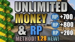 "GTA 5 Online: UNLIMITED MONEY & RP METHOD! ""INSANE"" [1.28] NEW! ""PS4, XBOX ONE"" MONEY GLITCHES!"