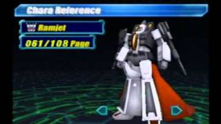 Transformers Character Gallery (PS2 Japan)