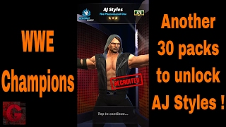 WWE Champions - 30 more pulls to unlock AJ Styles ✔