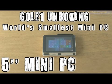 "1# GOLE1 unboxing 5"" World's Smallest Mini PC Dual-OS Windows 10 64bit and Android 5.1"
