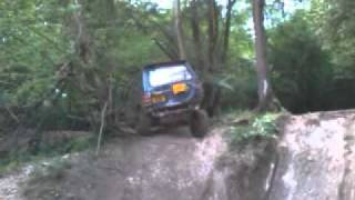 mitsubishi pajero off roading - hill climb and near roll - fourmarks - brick kiln farm - off road