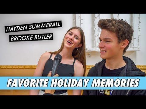 Hayden and Brooke - Favorite Holiday Memories
