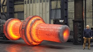 Dangerous Biggest Heavy Duty Hammer Forging Factory, Fast Extreme Ring Forging Rolling Process