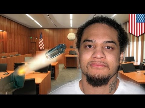 Courtroom shooting: gangbanger defendant gunned down by US marshal during trial
