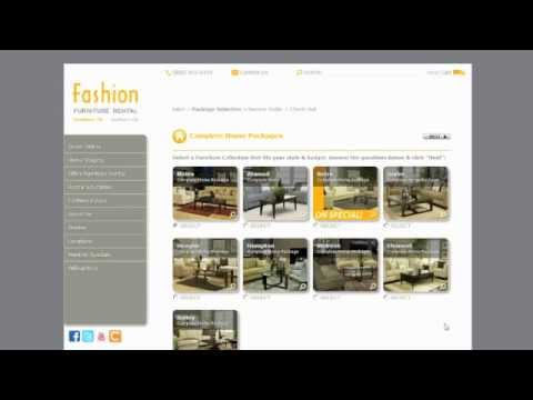 How To Rent Furniture Online - San Diego, Los Angeles, Riverside and Orange Counties