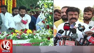NTR Family Members Pays Tribute At NTR Ghat - 22nd Death Anniversary  - netivaarthalu.com