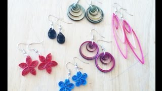 earrings making   earrings tutorials - handicrafts Making at home