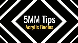 5MM Mouthpiece Tips - Acrylic Bodies