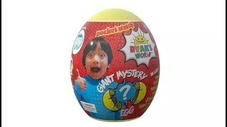 Opening Giant Surprise Egg Toy Ryan's World / Ryan ToysReview