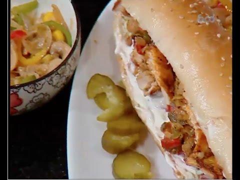 ساندويتش دجاج مكسيكانو الشيف #غفران_كيالي من برنامج #هيك_نطبخ #فوود
