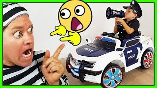 RIDE ON TOYS - POWER WHEELS - POLICE CARS - Children Playing Dress Up
