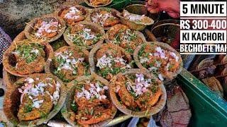 Cycle Wali Matra kachori | Kulcha Roll | Fateh Ki Kachori | Indian Street Food | Delhi