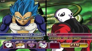 Dragon Ball Z Budokai Tenkaichi 3 - Vegeta Nueva Transformation  VS Jiren ,Toppo,Dyspo and Freezer
