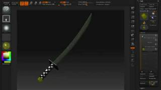 ZBrush Tutorials (Creating a Sword)