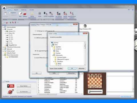 Chessbase 11 - Datenbank von DVD auf Festplatte kopieren