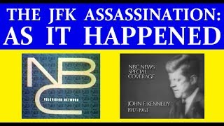 NBC-TV COVERAGE OF JFK'S ASSASSINATION ON NOVEMBER 22, 1963 (6+ HOURS)