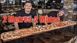 2 Metre PIZZA CHALLENGE with A Food Challenge Newbie!