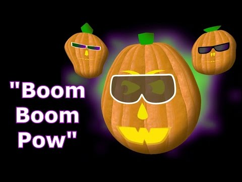 Boom Boom Pow - Singing Pumpkins Halloween Light Show 2011 video
