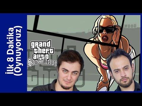 GTA San Andreas HD Oynuyoruz İlk 8 Dakika