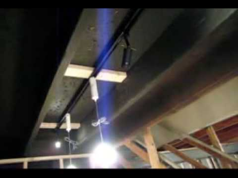 Basement Ceiling and Lighting Idea   YouTube