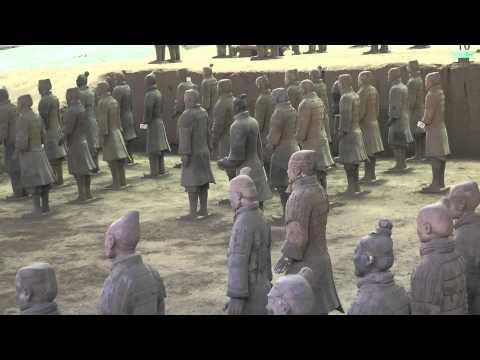 Xi'an: Mausoleo de Qin Shi Huang. Guerreros de terracota.
