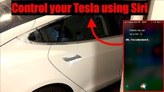 Control your Tesla Model S or X with NATIVE Siri Integration|Newest App Version 3.2.1 for iOS|