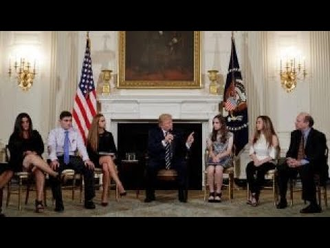 Parents, students meet with Trump over gun violence