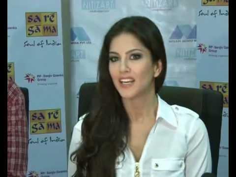 Sunny Leone Speaks In Hindi At Sa Re Ga Ma Event - Part 1 video
