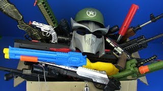 Box of Gun Toys ! Toys for kids Guns Collection Box Full of Toys