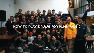 """Keseruan Coaching Clinic """"HOW TO PLAY DRUMS FOR PUNK MUSIC"""""""