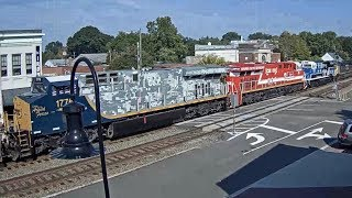 "THREE CSX ""HONOR"" ENGINES IN ASHLAND, VA! We Salute All of You!"
