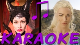 MALEFICENT vs DAENERYS Karaoke (Princess Rap Battle) Instrumental Sing-along