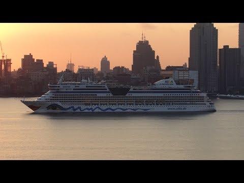 New York, New York - AIDAdiva Arriving in New York City HD (2017)