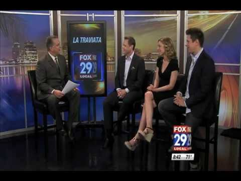 Palm Beach Opera's Daniel Biaggi, David Miller, & Sarah Joy Miller on WFLX Fox 29 Morning News