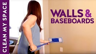 How to Clean Walls & Baseboards! (Clean My Space)