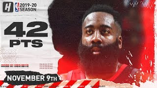 James Harden Full Highlights vs Bulls (2019.11.09) - 42 Pts, 9 Ast, 10 Reb!