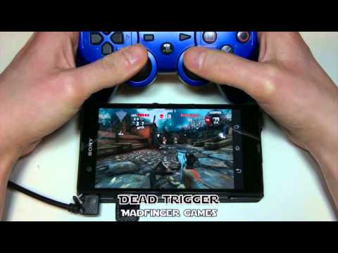 Xperia Z with Dual Shock 3 and optimized games demo (without root)