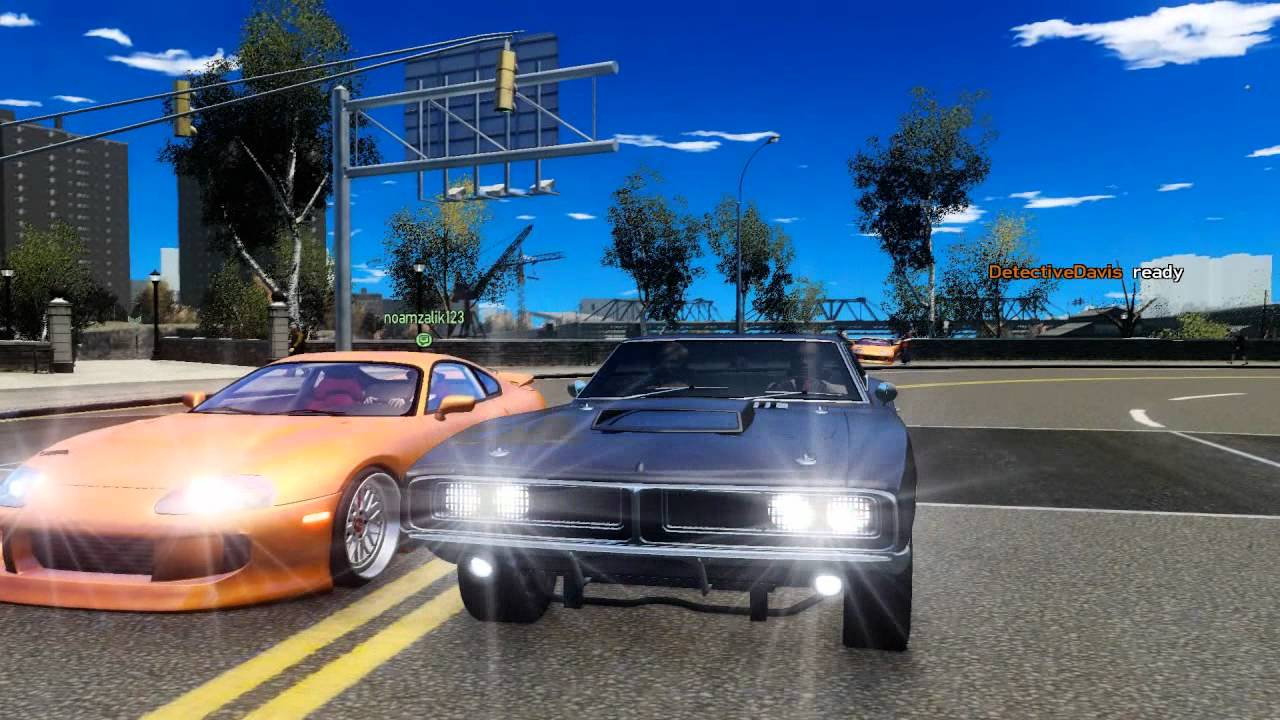 Supra Vs Charger >> Fast & Furious 1 69 Dodge Charger vs Toyota Supra GTA IV - YouTube
