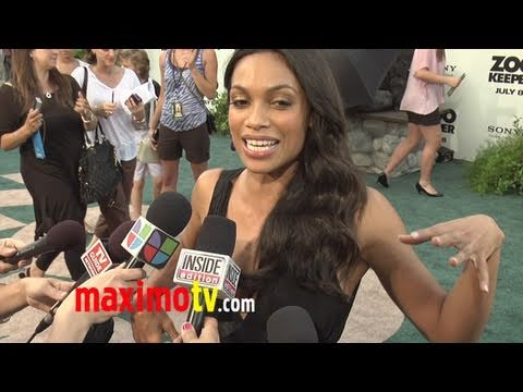 Rosario Dawson monkeys around at Zookeeper premiere... but it's ...