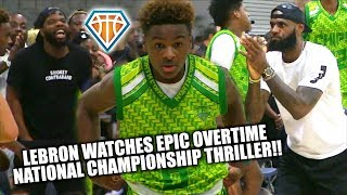 LeBron Watches EPIC MIDDLE SCHOOL NATIONAL CHAMPIONSHIP OT THRILLER!! | Blue Chips vs CP3 GETS TESTY