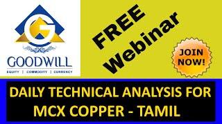 MCX COPPER TRADING TECHNICAL ANALYSIS NOV 24 2014 CHENNAI TAMIL INDIA