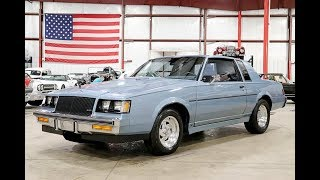 1987 Buick Regal T-Type Light BLue